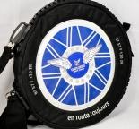 Gauloises, Rucksack Reifen, rund, große Reißverschlüsse...sehr selten