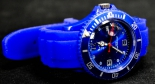 Gauloises, Tabac, Sport Armbanduhr, blau, mit Metalldose