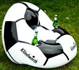 Klindworth Saft XXL aufbasbarer Fußballsessel Luftmatratze m Getränkehalterungen