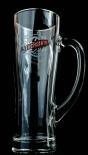 Duckstein Bier Brauerei Glas, Krug, Seidel, 0,5l mit Silberrand, Aspen