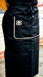 Baileys Likör, Kellnerschürze, Bistroschürze, schwarz/gold, b68 x h78cm
