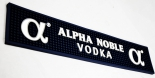 Alpha Noble Vodka, Barmatte, Tresenmatte, Abtropfmatte, blau