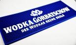 Gorbatschow Vodka, Barmatte, Tresenmatte, Abtropfmatte, blau