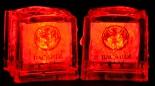 Bacardi Rum 2 x LED Leucht Acryl Eiswürfel, Leuchteiswürfel