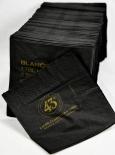 Likör 43, Licor 43, 250 x Papierservietten mit Rezept, schwarz, Cuarenta y tres