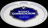 Gorbatschow Wodka Vodka, Serviertablett, Rundtablett, weiß
