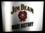 Jim Beam Whisky, LED Edelstahl Leuchtreklame, Leuchtwerbung, Animiernd!!