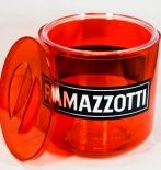 Ramazzotti Likör, Eiswürfelkühler, Eisbox, Eiswürfelbehälter, rot / transparent