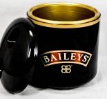 Baileys Likör, Eiswürfelkühler, Eisbox, Eiswürfelbehälter, schwarz / gold