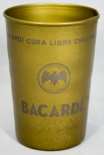 Bacardi Rum, Metallbecher, Becher, used LOOK, Vintage, Bronze, NEU