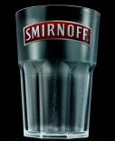Smirnoff Vodka, Acryl Glas / Gläser, Kunststoffbecher tranparent, NEU