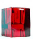 Marlboro Glas Windlicht, Teelicht, rote Ausführung, sehr massiv..sehr edel..