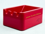 JPS, John Player Special, Melamin Harz Tisch Aschenbecher, rote Ausführung