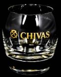 Chivas Regal Glas / Gläser, Tumbler, Whiskeyglas, Gold/Logo Smiley Lächelndes Glas