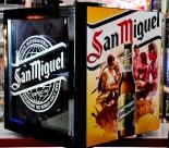 San Miguel, LED Display Cooler SC 52, Kühlschrank, schwarz/gelb