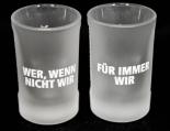Jägermeister Likör Shotglas 2 cl, Freundeglas, Schnapsglas,Relief,Für immer..