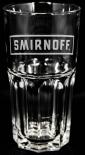 Smirnoff Vodka Longdrinkglas, Logo Halbmond, Cocktailglas, Glas, Gläser