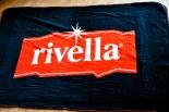 Rivella Limonade, Picknickdecke, Stranddecke, gekettelter Rand, schwarz/rot