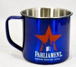 Parliament Vodka Desing Edelstahl Blau Metallic Becher, Tasse, sehr edel...