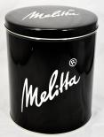 Melitta Kaffee, Blechdose, Vorratsdose, Kaffeedose, Schwarz