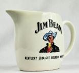 Jim Beam Whisky, Pitcher, Wasser Karaffe, weiße Ausführung, Cowboy