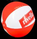 Original Rivella Limonade, Wasserball, Ball, rot / weiß, Wasser, Meer, Strand