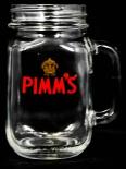 Pimms Gin, Ginglas, Krug, Glas / Gläser, rote Aufschrift