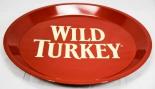 Wild Turkey Bourbon, Serviertablett, Rundtablett, Tablett, Kellner, weinrot rot