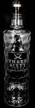 Three Sixty Vodka, XXL Dekoflasche, Flasche, Schauflasche, 3 L, geriffelt EDEL!!