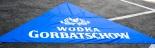 Gorbatschow Wodka / Vodka, Trapez Banner, Sonnenschutz, Sonnensegel, blau