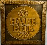 Haake Beck Bier Pils, Kupferstich, Poster, Bild, Schild / Werbeschild, klein
