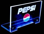 Pepsi Cola, LED Acryl Werbeschild, Leuchtreklame, Reklame, Sockel transparent