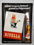 Rivella Limonade, Blechschild / Werbeschild Eidgenossen, Schild, Butler