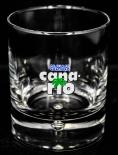 Original Canario Cachaca, Tumbler mit Perle im Fuß, Glas / Gläser