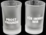 Jägermeister Likör Shotglas 2 cl, Freundeglas, Schnapsglas,Relief,Prost..Für