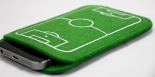 WM, EM, Handytasche Handyhülle Fußball Feld Fußballfeld Handy Hülle Tasche Filz