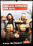 Astra Bier Wand Kalender Endlich Sixpacks für alle 2016 St Pauli KIEZ Hamburg