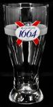 Kronenbourg Bier, Bierglas, Strassbourg Pint Relief Glas 0,5l