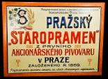 Staropramen Bier, Werbeblechschild, Prazsky Staropramen