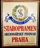 Staropramen Bier, Werbeblechschild, Prazske Pivo