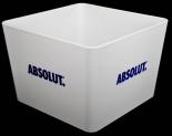 Absolut Vodka, Acryl Eiswürfelkühler, Eiswürfelbehälter, Flaschenkühler, weiß