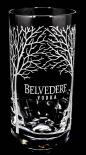 Belvedere Vodka, Longdrinkglas, Vodkaglas, Gläser, Baumsignatur weiss
