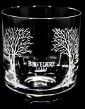 Belvedere Vodka, Tumbler, Vodkaglas, Gläser, Baumsignatur weiss