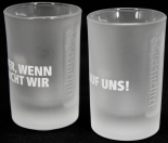 Jägermeister Likör Shotglas 2 cl, Freundeglas, Schnapsglas,Relief,Wer wenn nich