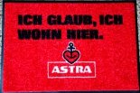 Astra Bier Fußmatte / Fußabtreter Ich glaub, ich wohn hier, St.Pauli, Hamburg