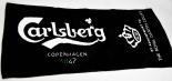 Carlsberg Bier Brauerei, Barhandtuch, Bartowel, schwarz, 25 x 50cm