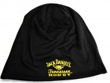 Jack Daniels Honey, Beanie Mütze, Logodruck gold Honey, schwarz.