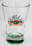 Martini Likör Glas Tumbler Rocks 31 cl, großer Tumbler, grüner Boden