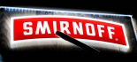 Smirnoff Vodka, LED Leuchtreklame Illuminated sign, Schreibtafel mit Stift