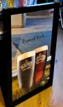Murphys Bier, Beer, Werbespiegel im Echtholzrahmen, schwarz Typical Irish